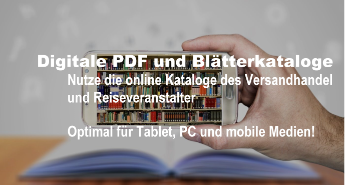Digitale PDF und Blätterkataloge des onlineShops und Reiseveranstalter